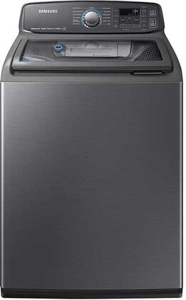 Samsung WA52M7750AV 5.2 Cu. Ft. Black Stainless Top Load Steam Washer