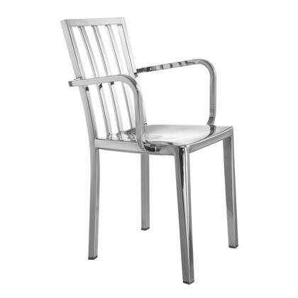 FMI10283-SILVER Eve Steel Dining Arm Chair