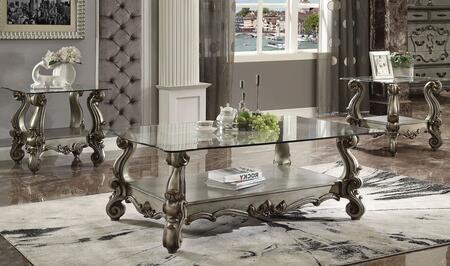 Versailles Collection 86840SET 3 PC Living Room Table Set with 56