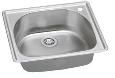 DLCGR2522102 Top Mount Single Bowl Stainless Steel