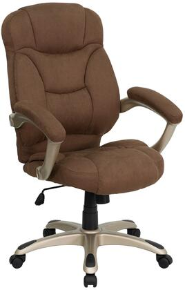 GO-725-BN-GG High Back Brown Microfiber Upholstered Contemporary Office