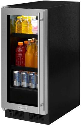 Marvel ML15BCG2LS 15 Beverage Center, stainless steel frame glass door, left hinge