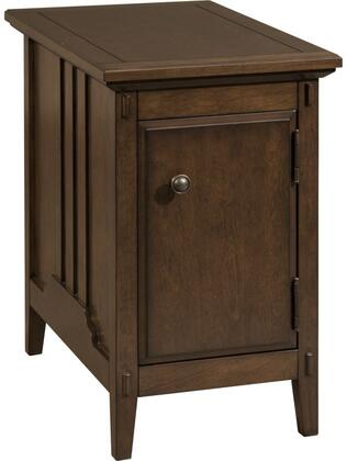Reclinermate Collection 8712-003 14 inch  Accent Table with 1 Door  Metal Knob Hardware  USB Port  Dual Outlets and Adjustable Shelf in Aryell