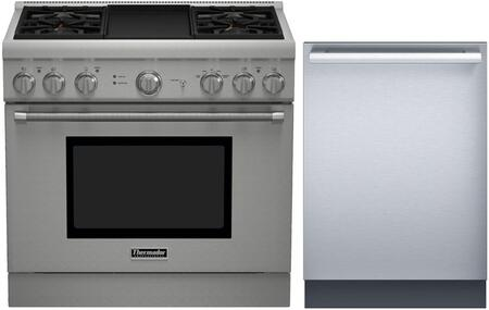 2-Piece Stainless Steel Kitchen Package With PRL364GDH 36