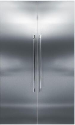 48 inch  Stainless Steel Side-by-Side Refrigerator with CR24F12L 24 inch  Left Side Freezer  CR24R12R 24 inch  Right Side Refrigerator  and 4 inch  Toe