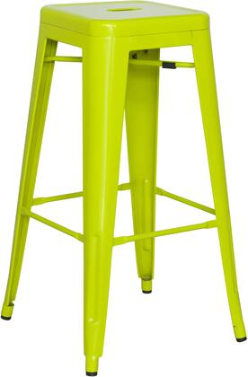 8015-BS-GRN 30 Galvanized Steel Bar Stool in Lime