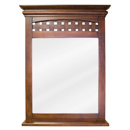 MIR055 Bath Elements 26 inch  x 34-.2 inch  Nutmeg Lyn mirror with 3.5 inch  wide shelf and Beveled