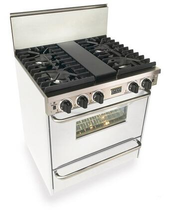 WPN28171W 30 inch  Freestanding Gas-Liquid Propane Range With 4 Sealed Ultra High-Low Burners  3.69 Cu. Ft Capacity. TurboFlow Convection  Manual Clean  3 Racks