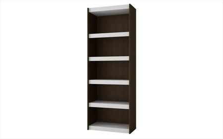 Parana 3.0 Collection 32AMC50 72 inch  Bookcase with 5 Shelves and High Quality MDP in White and