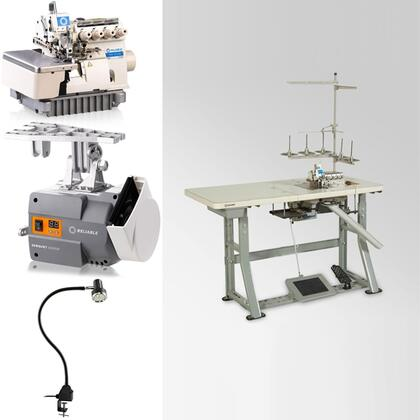 "6200SO (MSK-3316N-GG7-40H) 3/5 Thread Serger Sewing Machine with a Fully Submerged Table  3/32"" Steel K-Legs  6000SM ServoMotor  UberLight 9000C SMD-LED"