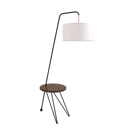 LS-STORK WL+W Stork Mid-Century Modern Floor Lamp with Walnut Wood Table