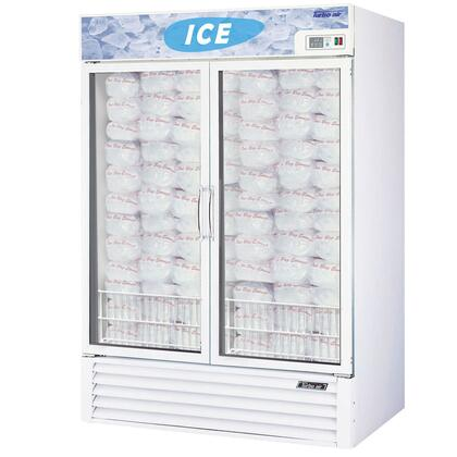 TGIM49 49 cu. ft. Ice Merchandiser with LED Interior  High Tech Monitor  Triple Pane Heated Glass Doors  Digital Temperature Control System and High Density PU