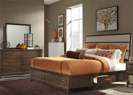 Hudson Square Collection 365-br-k2sdm 3-piece Bedroom Set With King Two Sided Storage Bed  Dresser And Mirror In