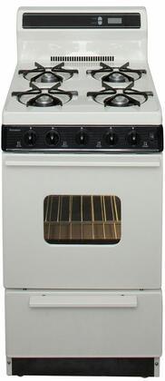 """Premier 20"""" Freestanding Gas Range Bisque/Biscuit SAK 220TP"""