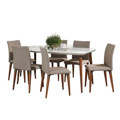 2-10127511011453 7-Piece Dining Room Set with Charles 63