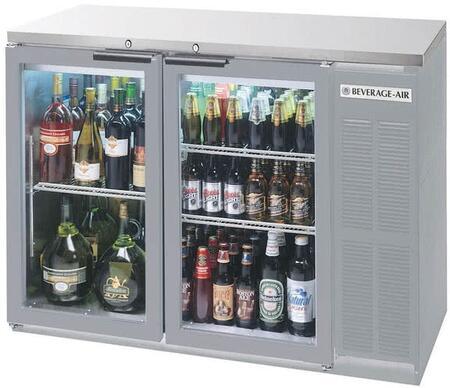 BB48HC-1-G-S-27 48 Back Bar Refrigerator with 12.4 cu. ft. Capacity  LED Lighting  Self-Closing Swing Doors  and Epoxy Coated Shelves