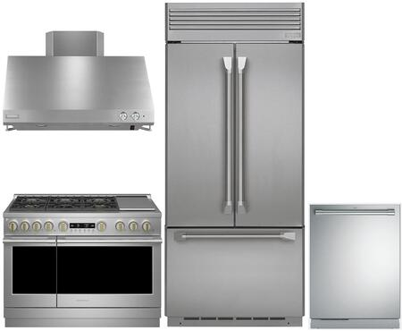 4-Piece Professional Kitchen Package with ZIPP360NHSS 36