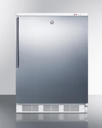 ALF620LSSHV 24 inch  ADA Compliant Freestanding Medical All-Freezer with 3.2 cu. ft. Capacity  Manual Defrost  3 Drawer Bins  and Adjustable Thermostat: Stainless
