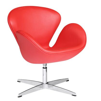 FMI1144-red Swan Chair Leather