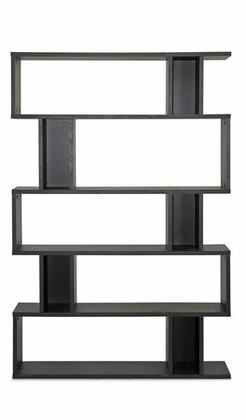 Baxton Studio FP-5DS-Shelf (3A) Goodwin Modern Bookshelf with 5-Levels  Engineered Wood Frame and Faux Wood Grain Paper Veneer in Dark