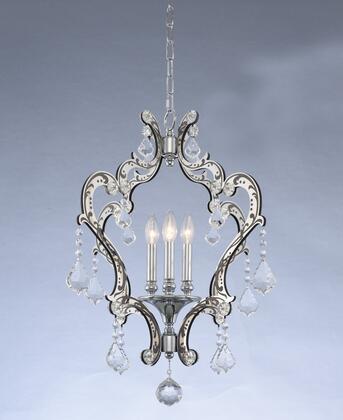 034050-048-FR001 Argento 4-Light Pendant Ceiling Light Transitional Style  120V in Matte Black w/Polished Stainless Steel