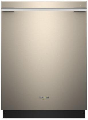 "Whirlpool 24"" Tall Tub Built-In Dishwasher with Stainless Steel Tub Sunset Bronze WDTA75SAHN"