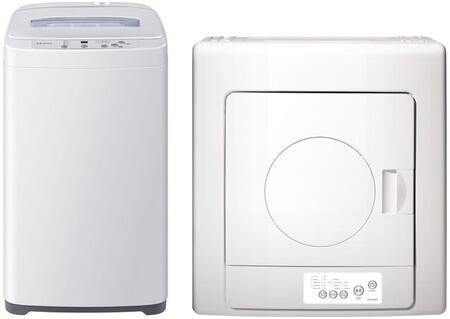 White Portable Laundry Pair with HLP24E Portable Washer and HLP141E Portable