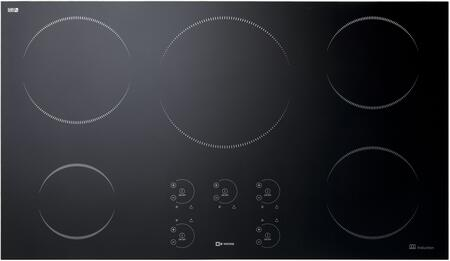 "VECTI365 36"" Induction Cooktop with 5 Elements Booster/Fast Boil Function for up to 3 Zones Hot Surface Indicator and Auto Shut Off in"