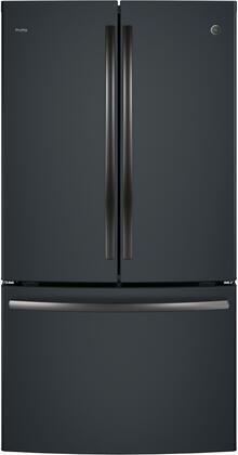 GE PWE23KELDS Black Slate Profile Series ENERGY STAR 23.1 Cu. Ft. Counter-Depth French-Door Refrigerator