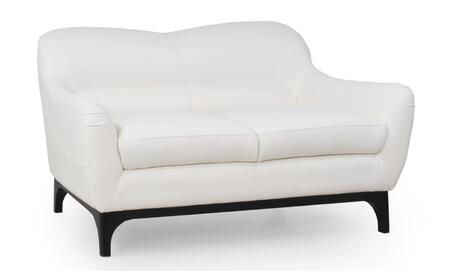 Wollo Collection 35702DO/1188 58 inch  Loveseat with Top Grain Leather Upholstery  Flared Arms and High Density Fire Retardant Foam in