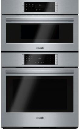 Bosch HBL8752UC 800 Series 30 Inch Electric Double Wall Oven/Microwave Combo