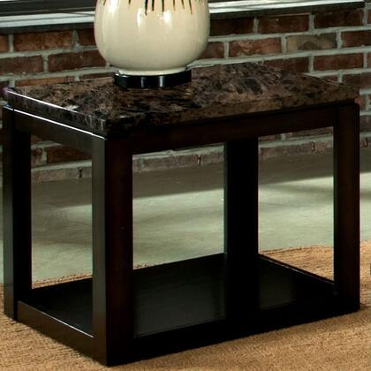 23624 Bella Chair Side Table With Marbella Top And Bottom Storage/display Shelf In Deep