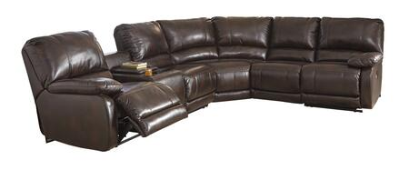 Hallettsville 35300-01-77-46-62 4PC Sectional Sofa with Left Arm Facing Power Console Loveseat  Wedge  Armless Chair and Right Arm Facing Zero Wall Power
