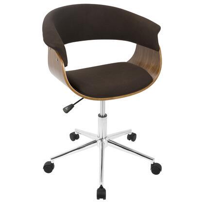 OC-VMO WL+E Vintage Mod Mid-Century Modern Office Chair in Walnut and Espresso