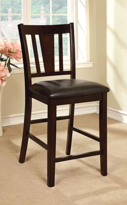 Bridgette II Collection CM3325PC-2PK Set of 2 Counter Height Chair with Leatherette Upholstery in