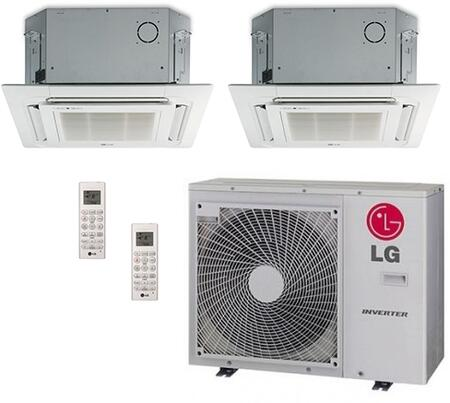 LMU30CHVPACKAGE25 Dual Zone Mini Split Air Conditioner System with 24000 BTU Cooling Capacity  2 Indoor Units  Outdoor Unit  and 2 PT-UQC Grille 704194