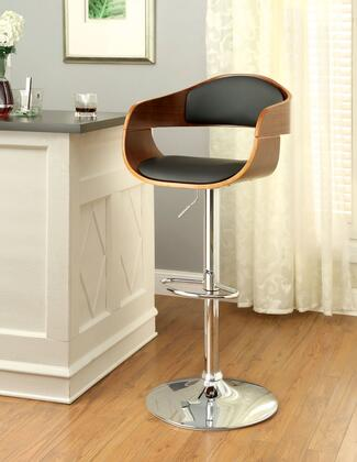 Boxil CM-BR6236 Swivel Bar Stool with Adjustable Height  Wooden Scoop Frame and Leatherette Seat in Dark