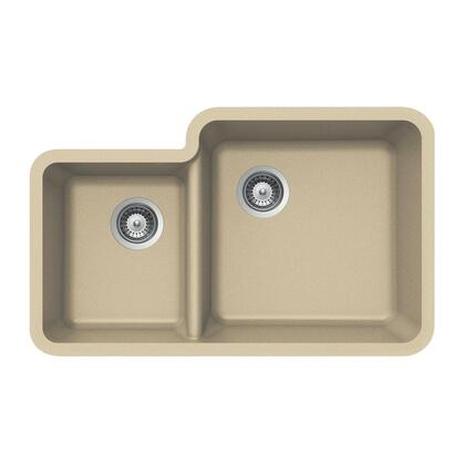 S-175U SAND Quartztone Series Granite Undermount 70/30 Double Bowl Kitchen Sink