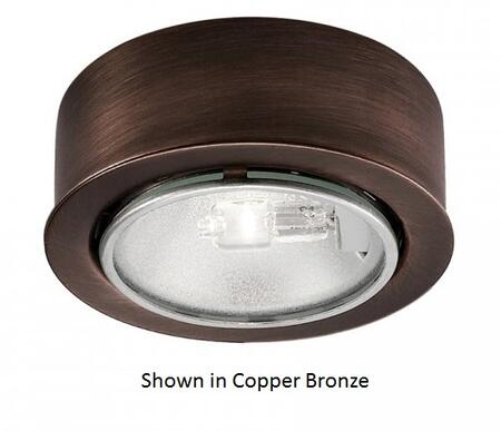 HR-88-BN Round Low Voltage Button Light with All Steel Construction and Lamp in Brushed Nickel: 12V-20W Halogen Bi-Pin