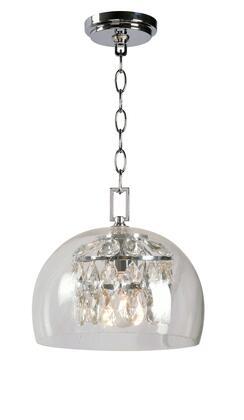 Roxy 93850CH 1-Light Mini Pendant Ceiling Light with 1- Medium Base Socket  60 Watt Maximum  10