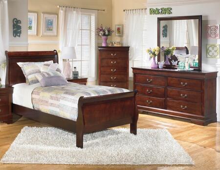 Alisdair Twin Bedroom Set With Sleigh Bed  Dresser And Mirror In Dark