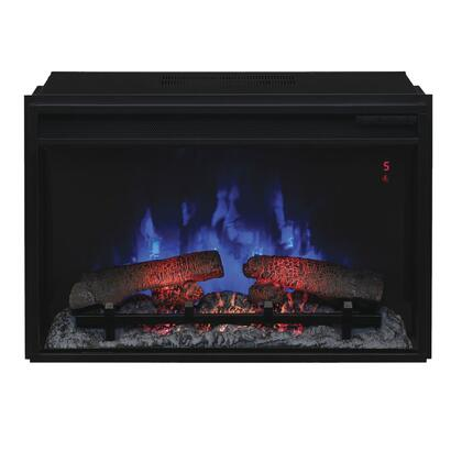 26II310GRA 26 inch  SpectraFire Plus Electric Fireplace Insert with Safer Plug Fire Prevention Technology   Remote Control and Tempered Glass Front Display in