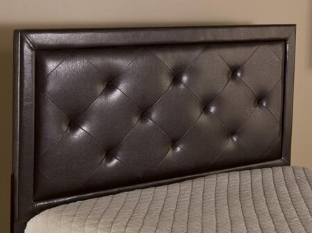Becker 1292HFRB Full Sized Bed with Headboard and Frame  Wood Construction and Faux Leather Upholstery in Brown