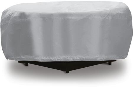 1199 48 inch  Fire Pit Outdoor Cover with UV Treated  Water Resistant  Soft Fleece Polyproplene Backing and Heavy Duty Vinyl Fabric in Grey