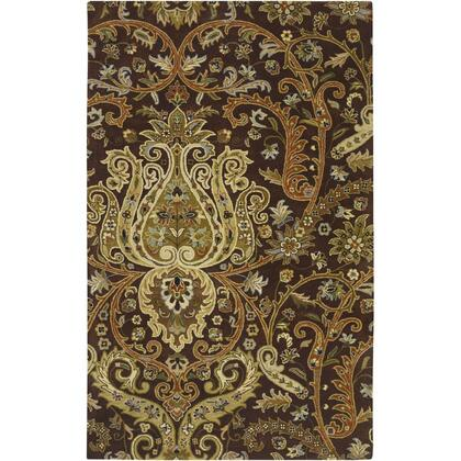 A141-913 9 X 13 Rectangular Ancient Treasures Ink Handmade Area Rug Made With 100% Semi-worsted New Zealand Wool And Made In
