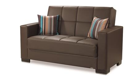 Armada Collection ARMADA LOVESEAT #16 BROWN PU 27-448 65