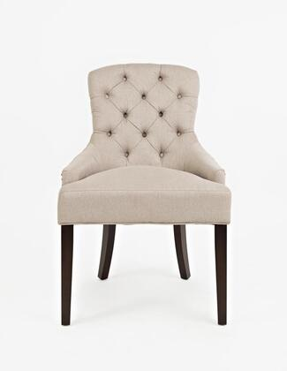Easy Living Pierce Collection PIERCE-CH-TAUPE 20 inch  Accent Chair with Nail Head Trim  Dark Arabica Tapered Legs  Stain Resistant and Fabric Upholstery in Taupe