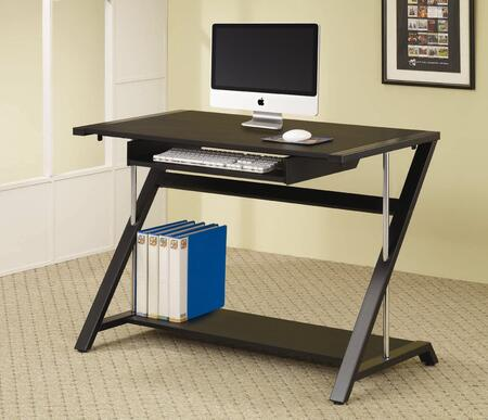 800222 Home Office Contemporary Desk in Black by Coaster