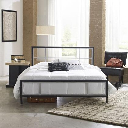 Joliet Collection MFP01653QN Queen Size Platform Bed with Metal Frame and Modern Style in Black and