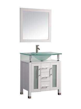 -8127W Beliza 32 Single Sink Bathroom Vanity Set